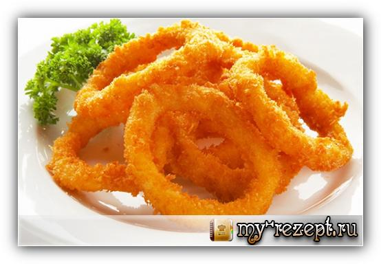 хрустящие кольца кальмара