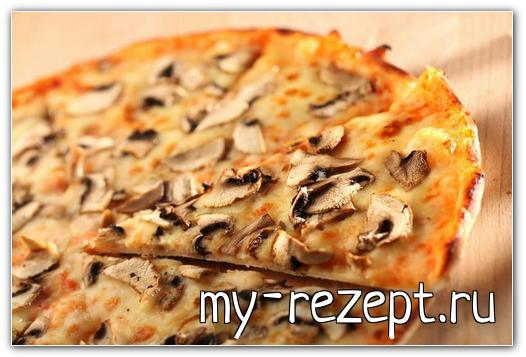 Грибная пицца, как приготовить?