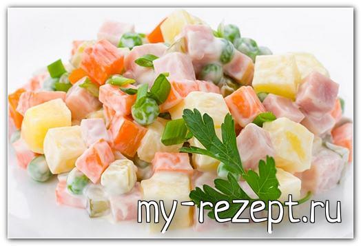 Салат оливье рецепт с фото очень вкусный!