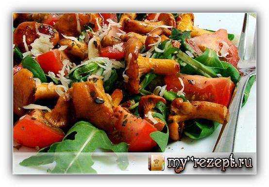 салат полянка с опятами рецепт с фото