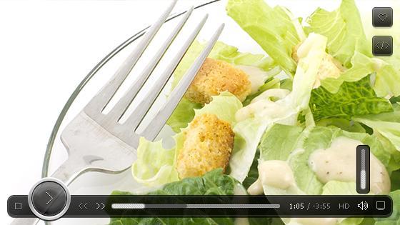 Салат цезарь видео рецепт