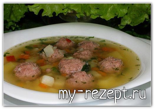Суп с фрикадельками рецепт пошагово с фото!
