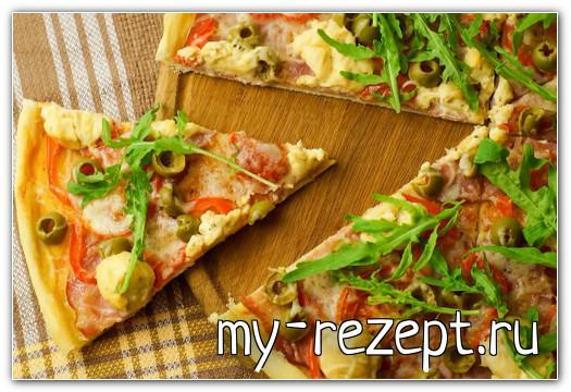 домашняя пицца в духовке простой рецепт с фото