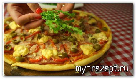 рецепт грибной пиццы в домашних условиях в духовке