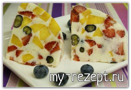 01 торт желе с фруктами и ягодами