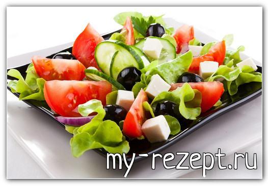 Греческий салат рецепт классический с брынзой
