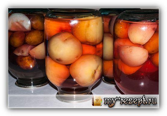 Рецепт компота из персиков на зиму!