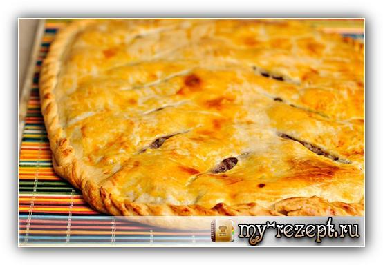 Мясной пирог хризантема рецепт с фото пошагово!