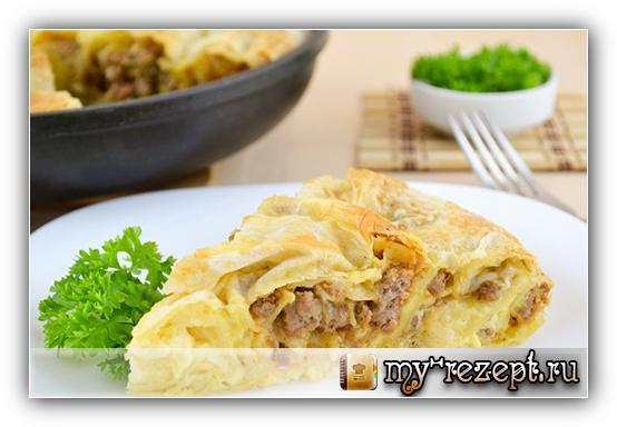 мясной пирог рецепт с фото пошагово