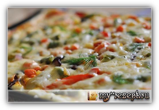 пицца в духовке рецепт майонез