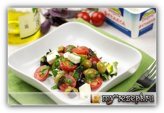 Салат греческий классический простой рецепт