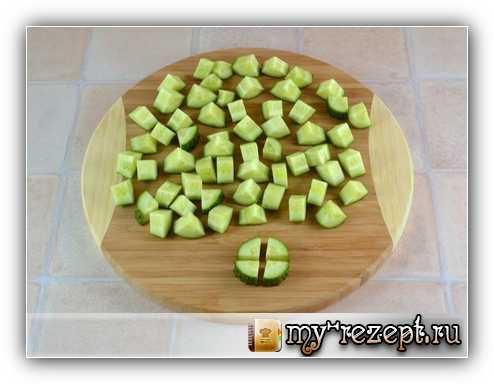 рецепт греческого салата из огурцов