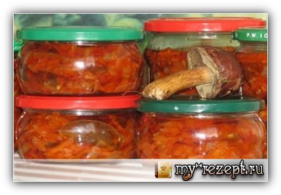 грибной салат на зиму рецепт